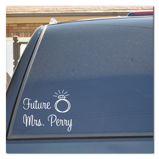 Future Mrs. Bride with Wedding Ring Decal