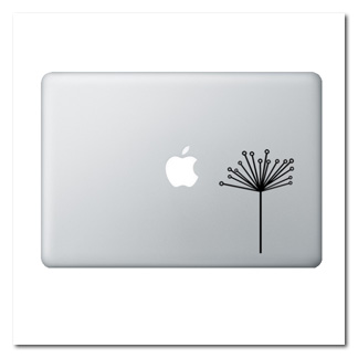 Modern Dandelion Laptop Decal