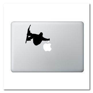 Snow Boarder Laptop Decal