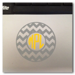 3 inch chevron monogram