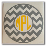 5 inch Chevron Monogram