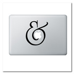 Ampersand Laptop Decal