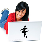 Ballerina Laptop Decal