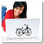 Bicycle Laptop Decal