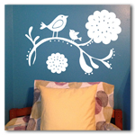 Bird on a Branch Vinyl Wall Art
