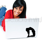 Yoga Pose - Camel Laptop Decal