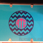 Chevron Circle Camp Trunk Monogram