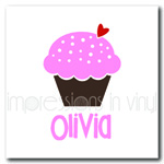 Personalized Cupcake Love iron on decal vinyl for shirt