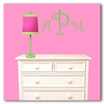 Curlz Monogram Decal