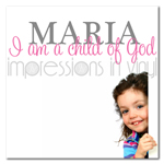 I am a Child of God Custom Girl Name Decal