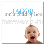 I am a Child of God Custom Boy Name Decal