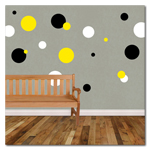 Polka Dot Vinyl Wall Decals - 3 colors