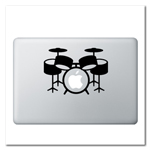 Drum Set Laptop Decal