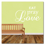 Eat Pray Love Wall Words