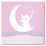 Pixie Fairy on the Moon Wall Decal