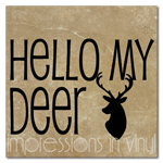 Hello My Deer Vinyl Wall Art Decal