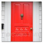 Ho Ho Ho Front Door Decal - Script Font