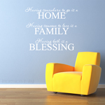 Home Family Blessing Vinyl Wall Decal