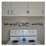 Love Served Daily Vinyl Wall Lettering