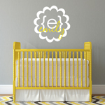 Modern Scalloped Girls Name Decal