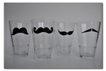 Mustache Glass Decals