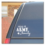 Proud Army Family Car Decal