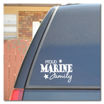 Proud Marine Family Car Decal