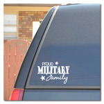 Proud Military Family Car Decal