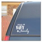 Proud Navy Family Car Decal