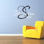 Script font Family Personalized Name Decal