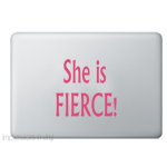 She is Fierce Laptop Decal