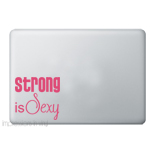 Strong is Sexy Laptop Decal