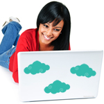 Swirly Cloud Laptop Decal
