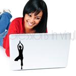 Yoga Pose - Tree Laptop Decal
