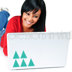 Laptop Decal Triangle Confetti
