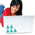 Laptop Decal Triangle Confetti