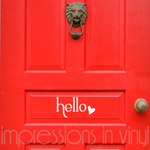 Valentine Hello Door Decal