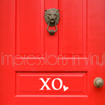 Valentine XO Door Decal